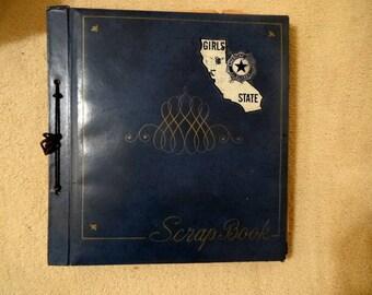 Vintage Scrapbook American Legion Girl's State California 1965 Scrapbook