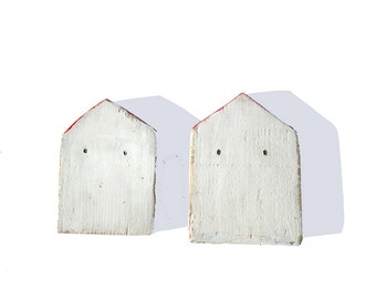 Rustic houses / Wooden houses /Old village/ Rustic village / 4 inches high / Art