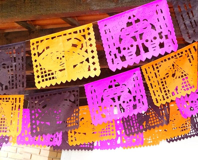 Fiesta Decoration B832 coco party suplies Mexico decor Over 75 Ft Papel picado taco party Cinco de mayo decorations 5 PK