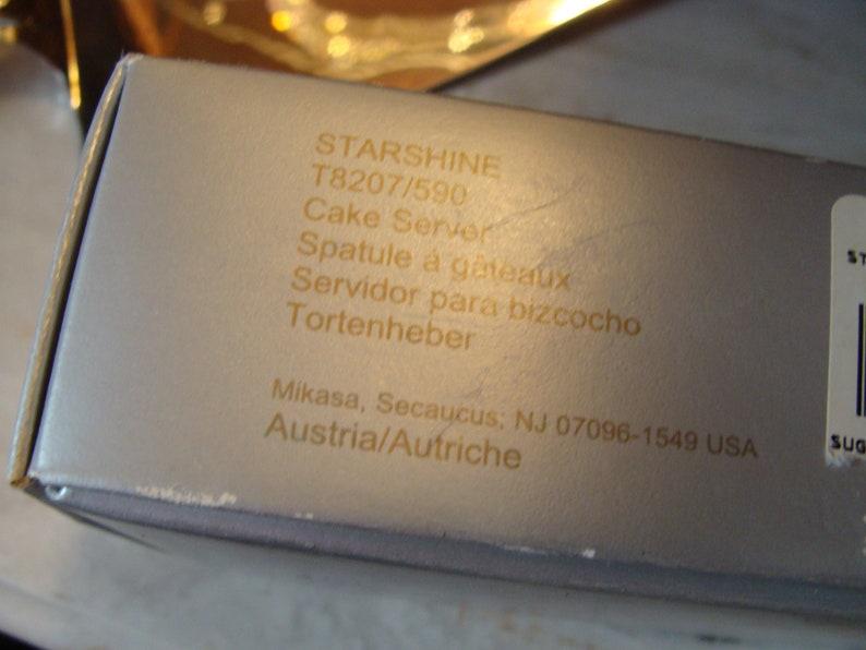 Austrian Crystal Handled CAKE SERVER  Spatula by Mikasa