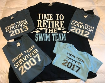 Swim team retiring shirt