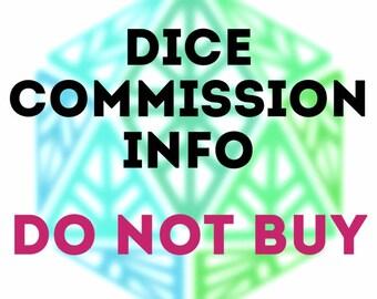 Custom Dice Commission Info DO NOT BUY