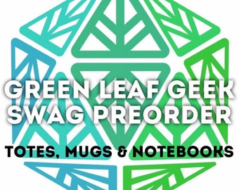 Green Leaf Geek Iconic Totes, Mugs & Notebooks