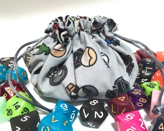 Dice Bag - Star Wars Dice Bag -  Dungeons and Dragons dice bag - Polyhedral dice bag - Dice bag dividers - Pathfinder dice bag - Dice Pouch