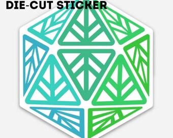 Green Leaf Geek Iconic Die-Cut Sticker
