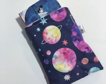 Galaxy book sleeve - Watercolor book sleeve - travel book sleeve - book accessory - book protector - bookworm gift