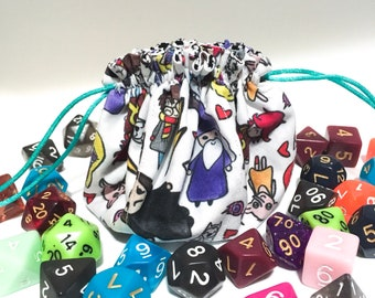 Dice bag - Harry Potter dice bag - Dungeons and Dragons dice bag - Polyhedral dice bag - Dice Pouch - Pathfinder dice bag