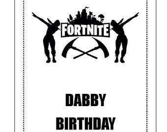 photograph about Fortnite Birthday Card Printable called Fortnite Pleased Birthday Card Printable A Fortnite Hacker