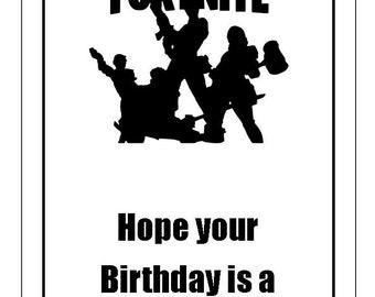 graphic regarding Fortnite Birthday Card Printable identify Fortnite Joyful Birthday Card Printable Fortnite Cheat