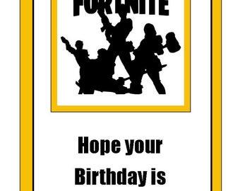 Clean image inside fortnite birthday card printable