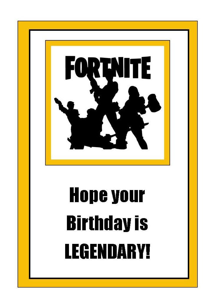 Crazy image inside fortnite birthday card printable