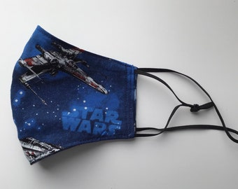 Star Wars Children's Face Mask: 100% Cotton, Made in the USA, Washable, Reusable