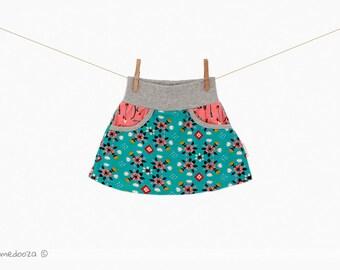 Girls skirt organic cotton | Baby skirt | Baby gift | Baby girl
