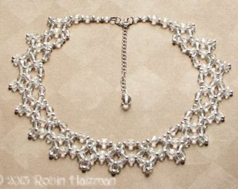 Crystal Right Angle Weave Necklace