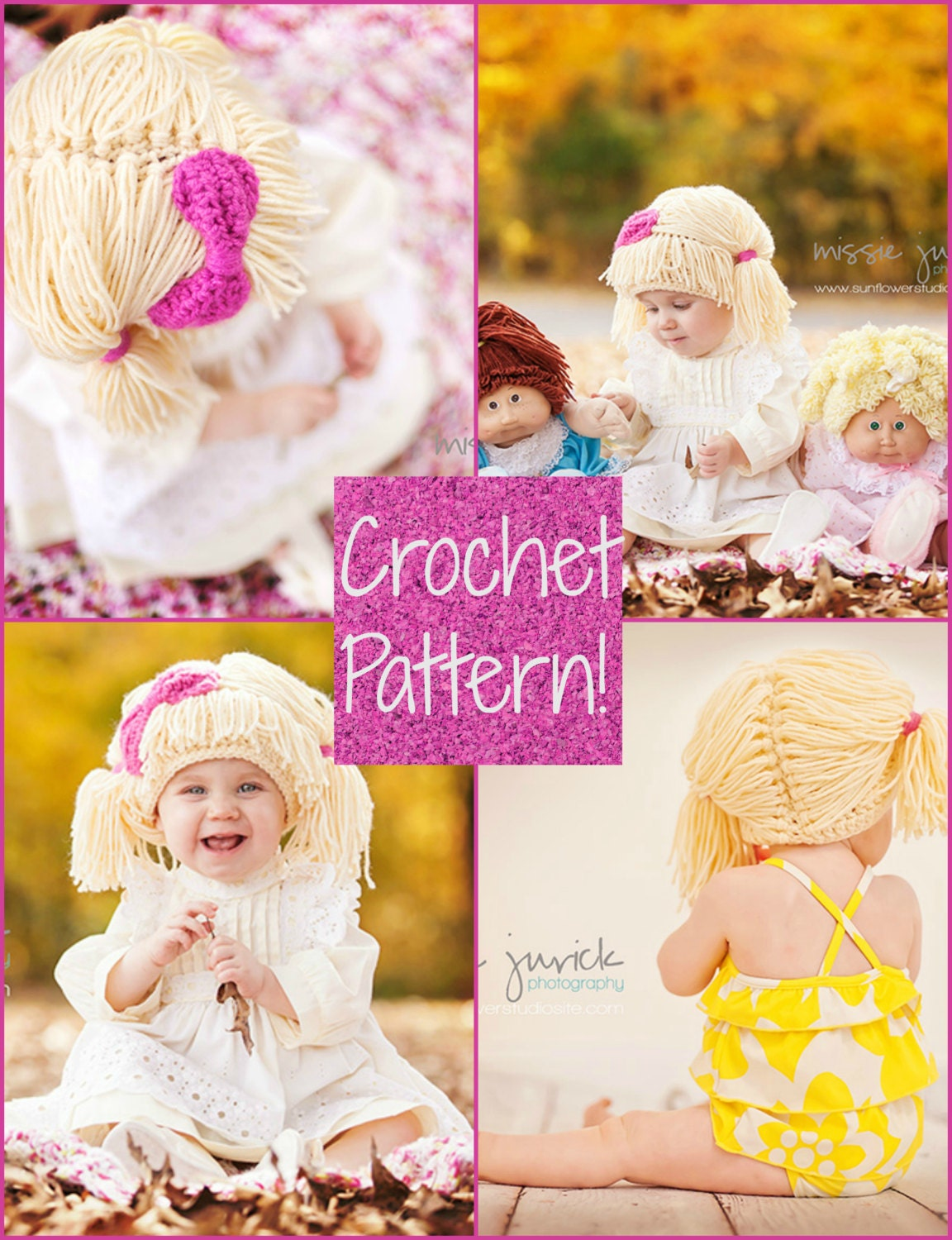 Crochet Pattern Cabbage Patch Kid Inspired Wig Etsy