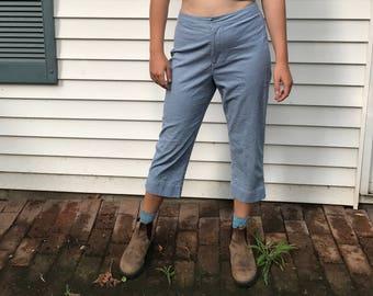 Vintage Blue Gingham High Waisted Liz Claiborne Pants