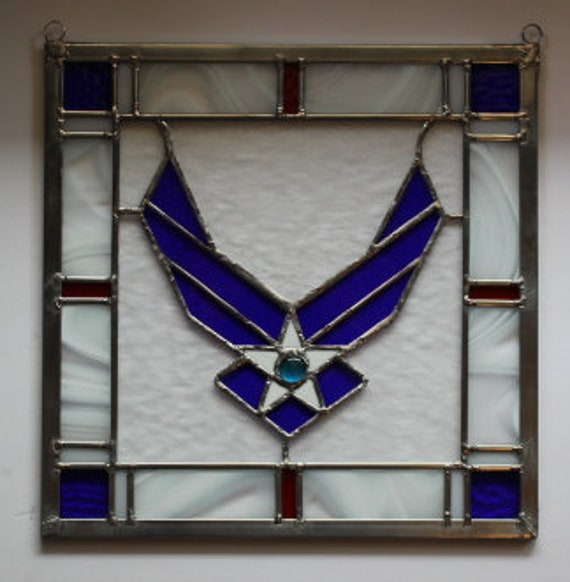 Air Force Suncatcher Stained Glass-style window hanging
