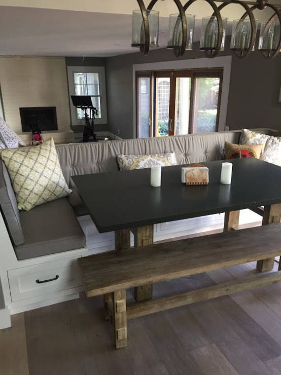 Peachy Kitchen Dining Banquette Bench Cushions Custom Made Example Onthecornerstone Fun Painted Chair Ideas Images Onthecornerstoneorg