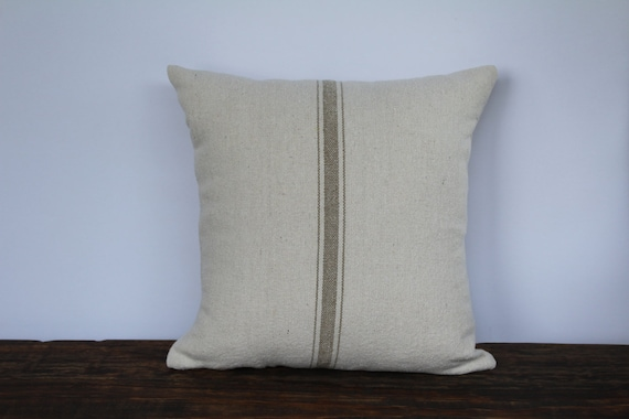 Grain Sack Pillow Cover Farmhouse Pillow Cover French Pillow Etsy Unique Grain Sack Pillow Covers