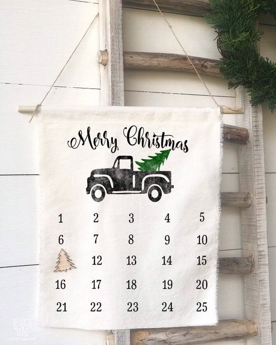Christmas Calendar, Advent Calendar, Christmas Countdown, Christmas Decor, Farmhouse Christmas, Christmas gift, JOY