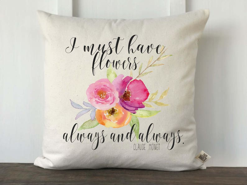I Must Have Flowers Always and Always Claude Monet Watercolor image 0