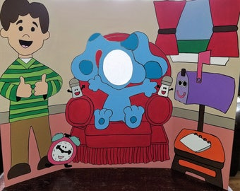 Blues Clues Hand Drawn and Painted Photo Op Display / Cutout Board!