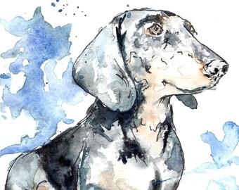 """Custom Watercolor & Pen Pet Portraits (8""""x10"""")"""