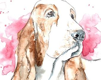 """Custom Watercolor & Pen Pet Portraits (11""""x14"""")"""