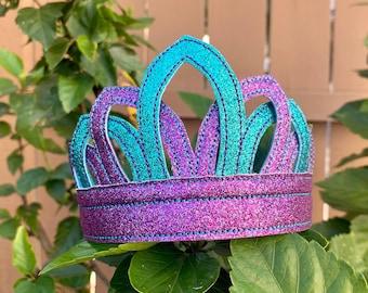 Mermaid Crown - Mermaid Dress Up Crown - Glitter Tiara - Dress Up Accessories - Princess Crown - Glitter Crown - Dress Up - Mermaid Princess