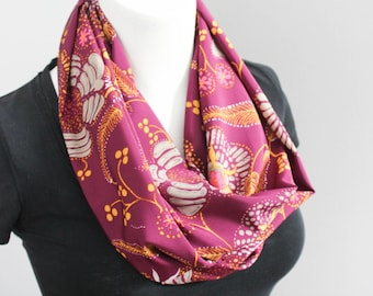Purple Scarf - Infinity Scarf - Fashion Scarf - Ladies Scarf - Lightweight Scarf - Girlfriend Gift - Gift for Her - Gift Under 20