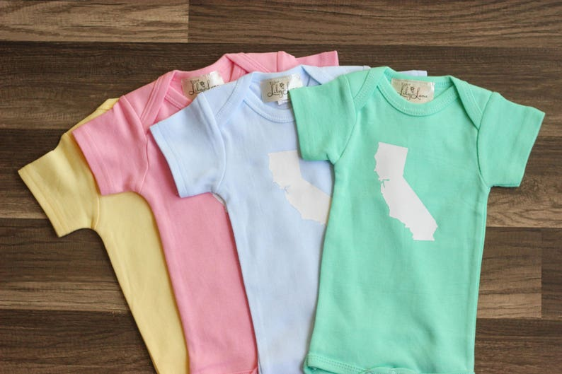 Baby State Bodysuit  California Baby Shirt  Home State image 0