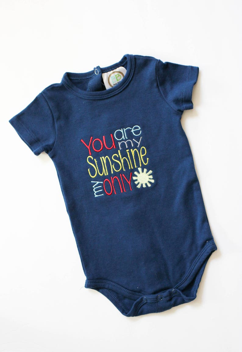 You Are My Sunshine Body Suit  Baby Boy Clothes  Baby Girl image 0