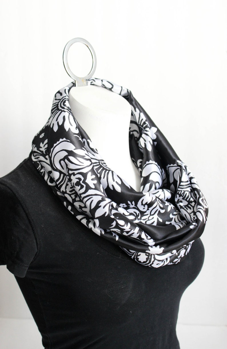Damask Scarf  Valentine's Day Gift  Infinity Scarf  image 0