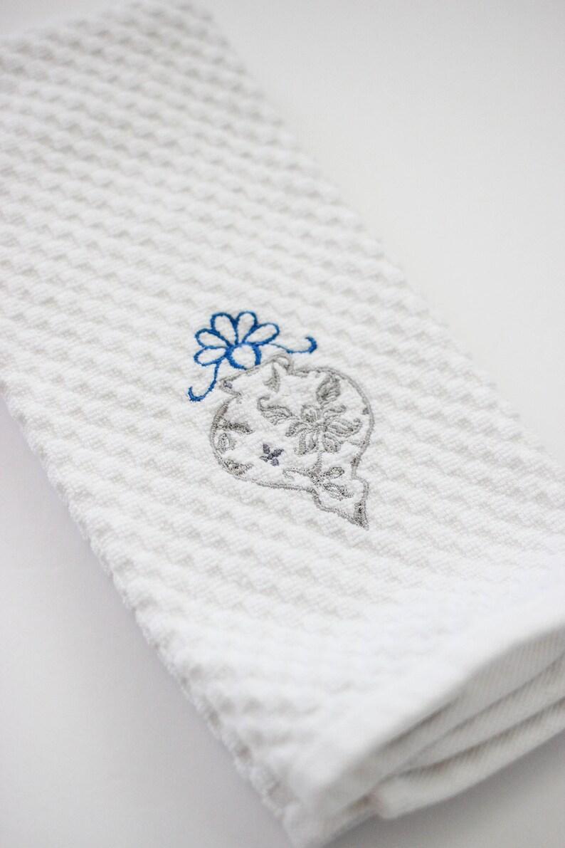 Christmas Kitchen Towel  Ornament Hand Towel  Christmas image 0
