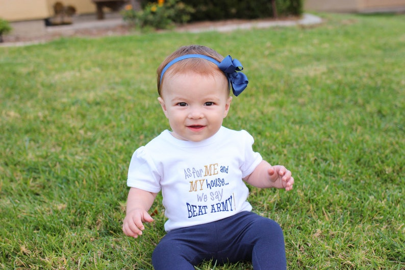 Go Navy Beat Army Onesie  USNA Baby Outfit  US Navy Outfit image 0