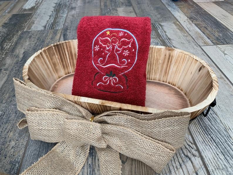 Angel Hand Towel  Christmas Hand Towel  Christmas Decor  image 0