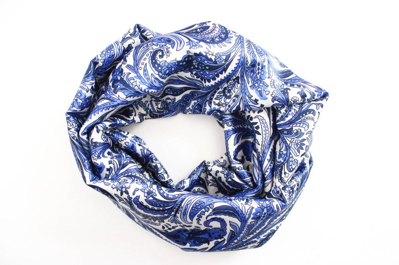 Blue Infinity Scarf  Gift For Wife   Infinity Scarf  image 0