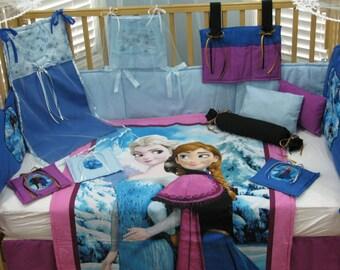 Disney's Frozen Queen Elsa and Princess Anna 15 Piece Baby Bedding Crib Set