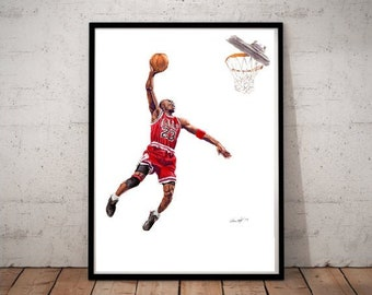 MICHAEL JORDAN BASKETBALL POSTER NBA LEGEND ICON ABSTRACT ART A3 A4 SIZE