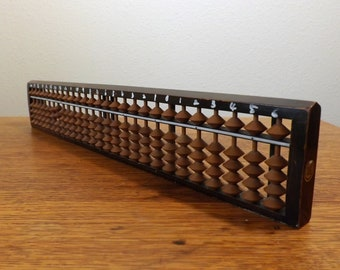 Japanese Abacus ~ Soroban ~ 27 Rods ~ Wood and Bamboo ~ Office Decor ~ Asian Decor ~ Gift for Him or Her