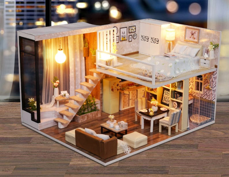 Cool Uk Stock Diy Duplex Flat Apartment Kit Diy Handcraft Etsy Wiring Digital Resources Cettecompassionincorg