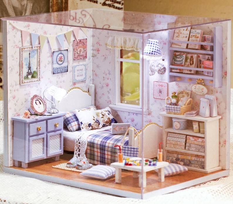 DIY Handcraft Miniature Project Wooden Dolls House My Angels Bedroom Trilogy 17