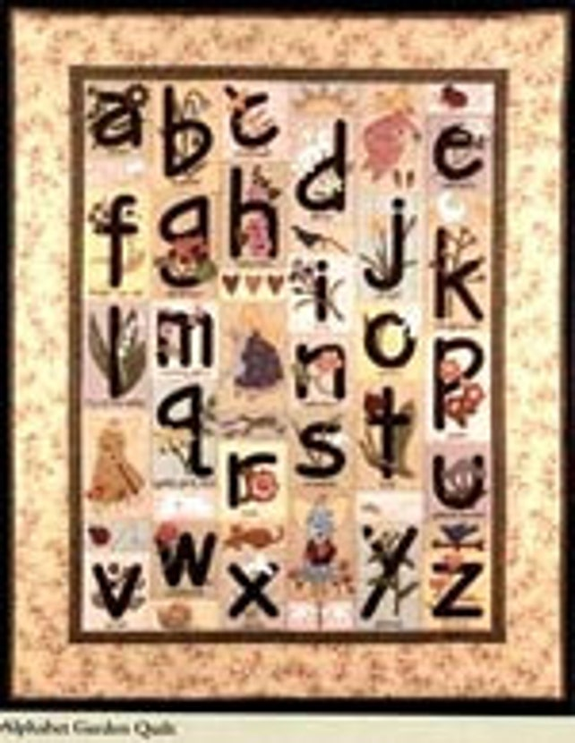 Art To Heart Alphabet Garden Fusible Applique Embroidery Quilt Etsy