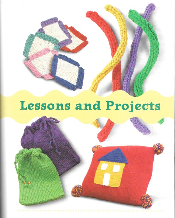 Scholastic Kids Knit Simple Steps To Nifty Projects Sarah Etsy