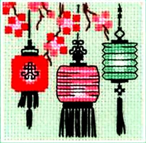 SAKURA Counted Cross Stitch Kit RIOLIS