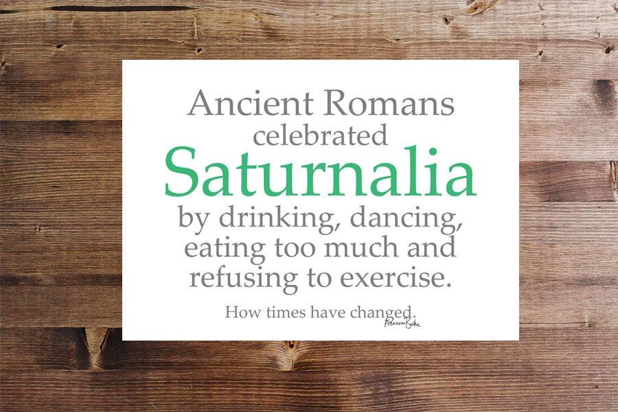 Saturnalien römische Mythologie Weihnachten druckbare Karte