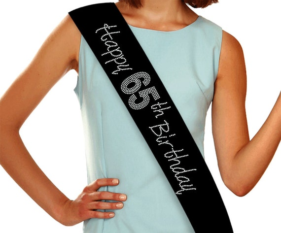 Black Red Blue Pink 65 65th Birthday Sash Gift Party Decoration