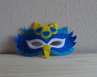 Peacock Felt Mask//Free Shipping//Ready to Ship