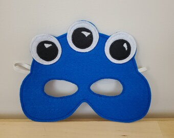 Blue Monster Alien Mask//Free Shipping//Ready to Ship