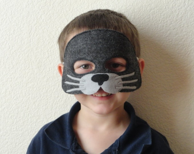 Featured listing image: Seal Felt Mask- Ready to Ship//Free Shipping